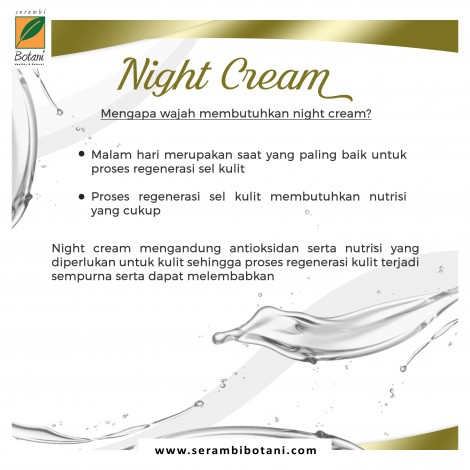 NIGHT CREAM GREENTEA SUSU KUDA