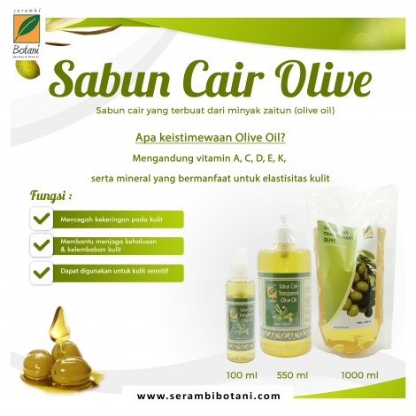 SABUN CAIR OLIVE OIL 100 ML